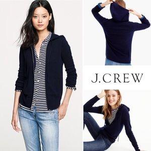 J. Crew cashmere zip hoodie everyday navy blue